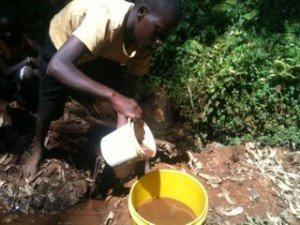Water Filters Save Lives dirty water from stream Kenya