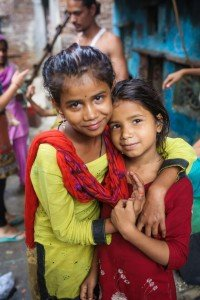 India - Slums - Two Children - Water Filters Save Lives