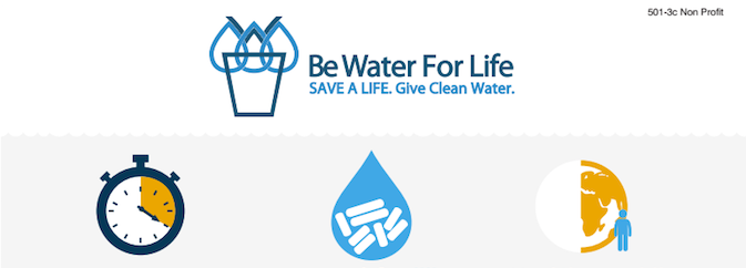 Save a Life. Give Clean Water (Infographic)